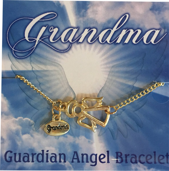 Grandma Gold Angel Charm Bracelet - Grandma Gifts - School Shop Smart