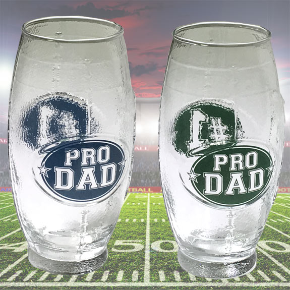 Pro Dad Football Shaped Glass Mug - Gifts for Dads - School Shop Smart