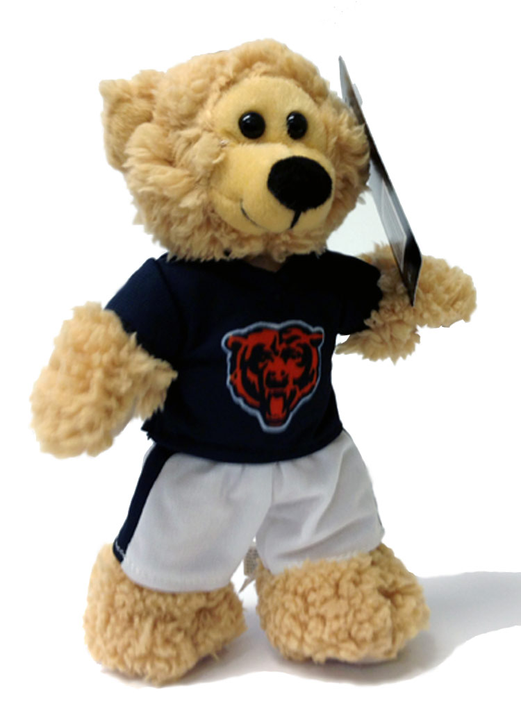 Chicago Bears Plush NFL Quarterback Bear - Sports Team Logo Gifts - School Shop Smart