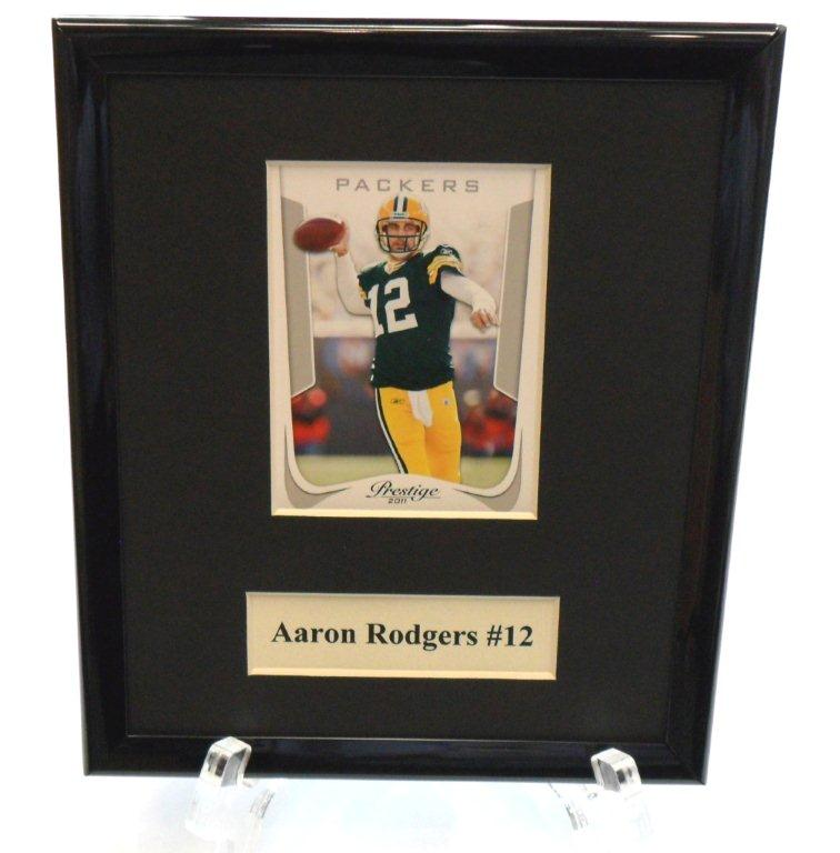 Aaron Rodgers NFL Sports Star Plaque - Sports Team Logo Gifts - School Shop Smart