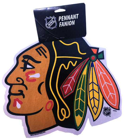 Blackhawks Die Cut Logo Pennant - Sports Team Logo Gifts - School Shop Smart