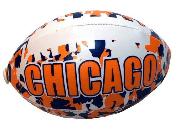 Chicago Camouflage Football - 6 Inch - Sports Team Logo Gifts - School Shop Smart
