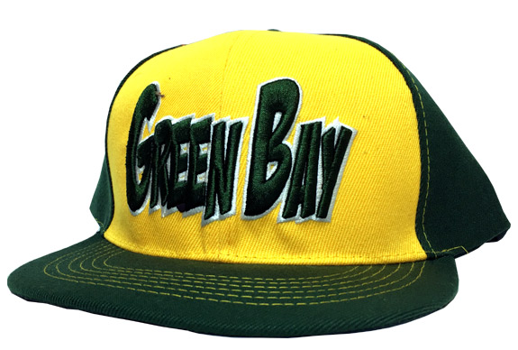 Green Bay City - Flat Brim Hat - Cap - Sports Team Logo Gifts - School Shop Smart