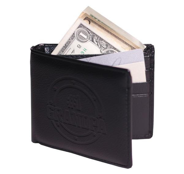 Grandpa Leather Wallet - Grandpa Gifts - School Shop Smart