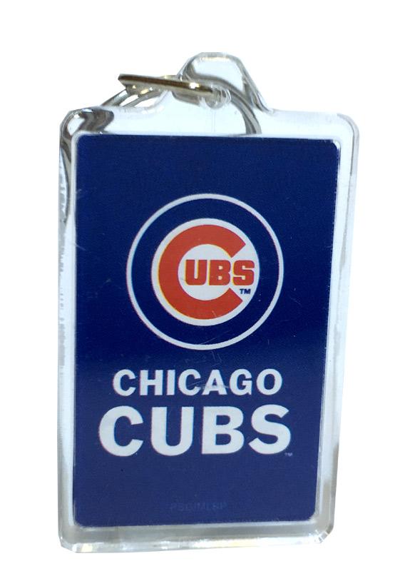 Chicago Cubs MLB Acrylic Keychain - Sports Team Logo Gifts - School Shop Smart
