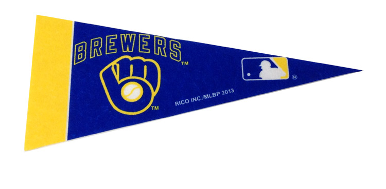 Milwaukee Brewers Mini Pennant - Sports Team Logo Gifts - School Shop Smart