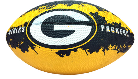 Green Bay Packers - 7 In. NFL Action Football - Sports Team Logo Gifts - School Shop Smart