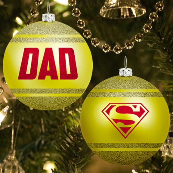 Dad Glitter Ornament