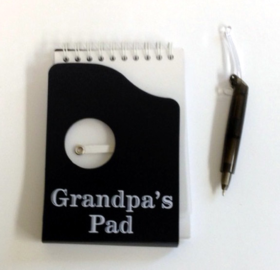 Grandpa Notes Notepad with Pen