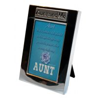 Aunt and Me Silver Photo Frame - Aunt Gifts - School Shop Smart