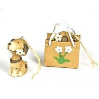 Dog Ornament In Flower Gift Bag - Christmas - Holiday Gifts - School Shop Smart