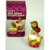 Girl On Mini Cupcake Figure - Gifts For Women - School Shop Smart