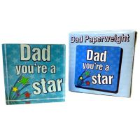 Dad Star Paperweight - Gifts for Dads - School Shop Smart