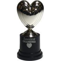 Grandma Silver Heart Trophy - Grandma Gifts - School Shop Smart