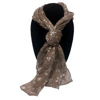Tan Snowflake Designer Scarf - Gifts For Women - School Shop Smart