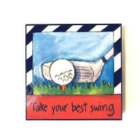 Inspirational Golf Plaque - Gifts For Men - School Shop Smart