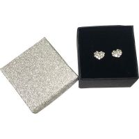 Crystal Heart Earrings In Gift Box - Jewelry Gifts - School Shop Smart