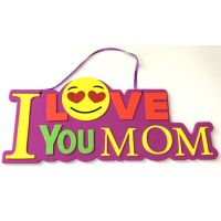 I Love You Mom Emoji Foam Sign - Gifts for Moms - School Shop Smart
