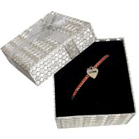 Mom Heart Charm Bracelet Silver Box - Gifts for Moms - School Shop Smart