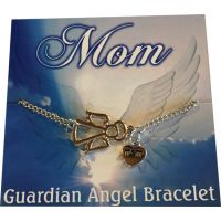 Mom Silver Angel Bracelet - Gifts for Moms - School Shop Smart
