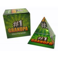 #1 Grandpa Glass Pyramid - Grandpa Gifts - School Shop Smart