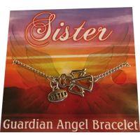 Sister Silver Angel Bracelet - Sister Gifts - School Shop Smart