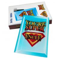 Youre Super Uncle Mirror Frame - Uncle Gifts - School Shop Smart