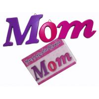 Mom 3pc Wood Plaque - Gifts for Moms - School Shop Smart