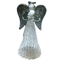 Glass Angel Ornament - Christmas Tree