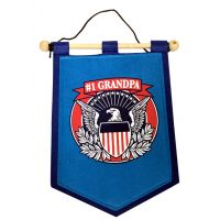 Grandpa Banner on Wooden Rod