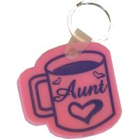 Aunt Coffee Cup Key Chain - Aunt Gifts - School Shop Smart