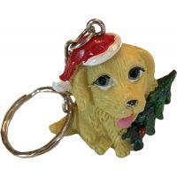 Festive Dog Key Chain - Christmas - Holiday Gifts - School Shop Smart