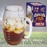 Coolest Fan Football Glass Mug - Gifts For Men - School Shop Smart