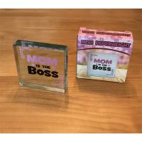 Mom is Boss Paperweight - Gifts for Moms - School Shop Smart