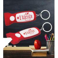 #1 Teacher Flashlight Key Chain - School Teacher Gifts - School Shop Smart